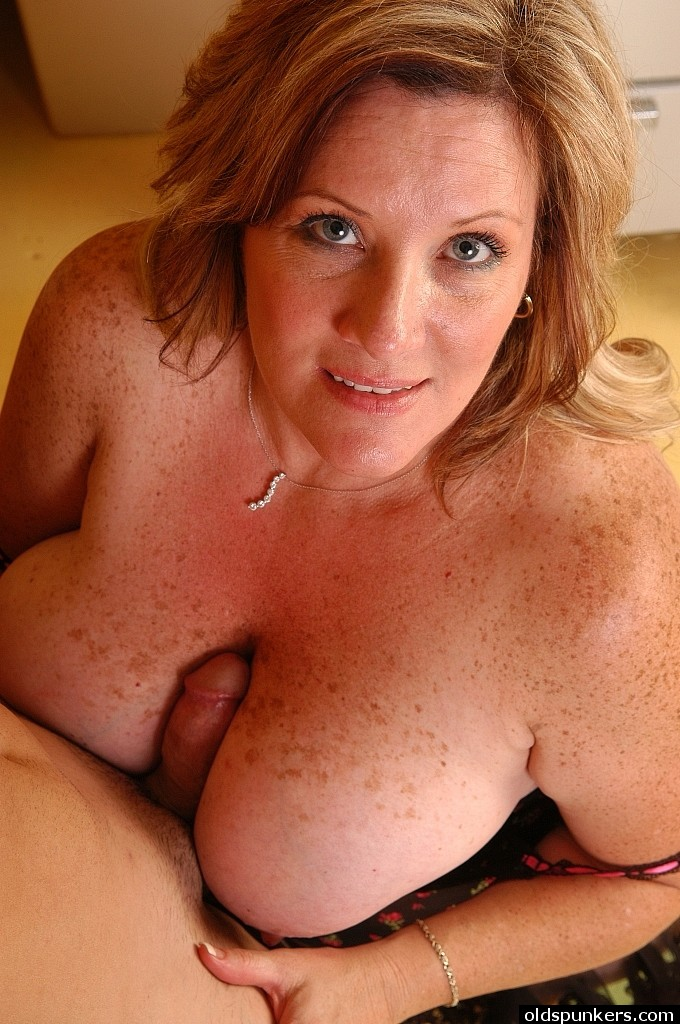 Nude freckled mature
