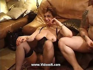 Mature tied gang fucked