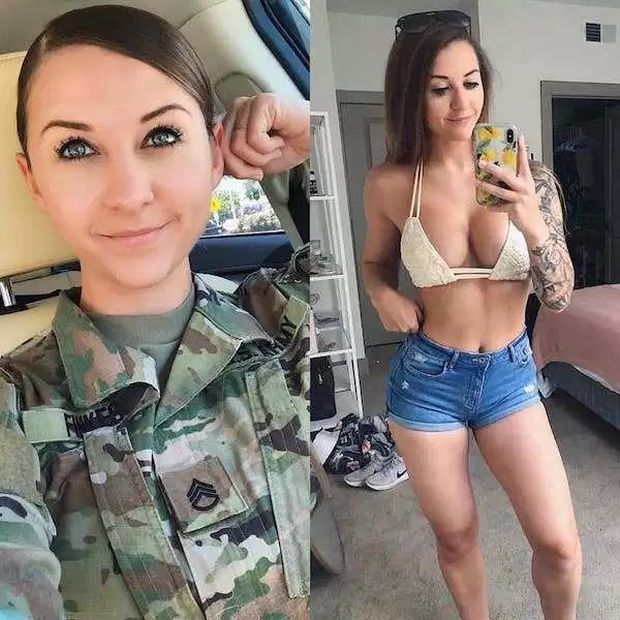 Sexy women of military